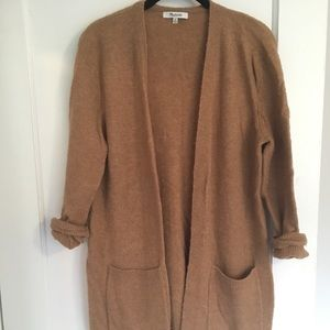 Madewell Kent cardigan in camel